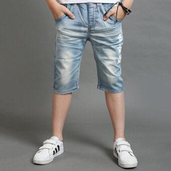 กางเกงยีนส์เด็กชายทารก (สีรูปภาพ)
