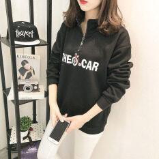 ขาย เสื้อสเวตเตอร์ ของผู้หญิง Xingjifeng บุขนด้านใน สไตล์เกาหลี สีดำ สีดำ ออนไลน์ ใน ฮ่องกง