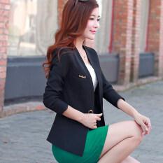 ราคา Nofsimp เสื้อคลุมสูทสตรี แขนสั้น เข้ารูป สไตล์เกาหลี สีดำ Unbranded Generic ออนไลน์