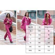 ราคา ชุดกันฝน เสื้อ กางเกง หมวก และแถบสีสะท้อนแสง สีชมพู ใหม่ล่าสุด