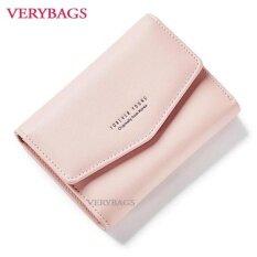 กระเป๋าสตางค์วินเทจ กระเป๋าตังค์ กระเป๋าเงิน กระเป๋าแฟชั่นผู้หญิง กระเป๋าถือแบบสั้น สีพีช ใน ไทย