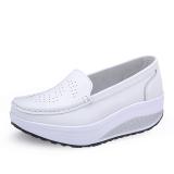 ราคา รองเท้าผู้หญิงแฟชั่นระบายอากาศได้ดี ส้นตึก สีขาว สีขาว ที่สุด