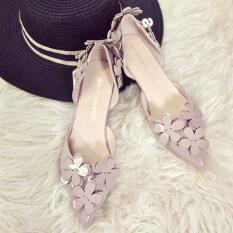 ซื้อ เกาหลีหญิงใหม่กลวงรองเท้าเดียวหวานรองเท้าส้นสูง สวยสีเผือก ออนไลน์ ฮ่องกง