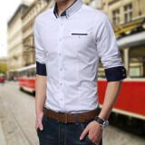 ขาย เสื้อเชิ้ตแขนสั้นผู้ชาย Dichuangzhe เสื้อลำลอง สไตล์เกาหลี สีขาว สีขาว ถูก ฮ่องกง