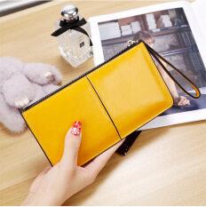 ราคา เกาหลีหญิงใหม่นางสาวคลัทช์กระเป๋าสตางค์ยาว สีเหลือง ออนไลน์ ฮ่องกง