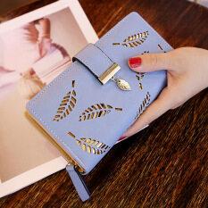 ทบทวน กระเป๋าสตางค์เกาหลีหญิงใหม่เพศหญิง สีฟ้า