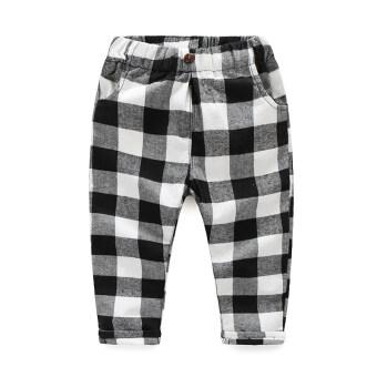 Review Mi Du Du กางเกงขายาว ลายสก๊อต เด็กผู้ชาย สไตล์เกาหลี