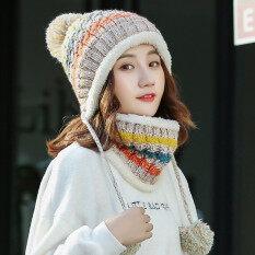 ขาย พลัสกำมะหยี่ฤดูใบไม้ร่วงและฤดูหนาวหนาอบอุ่นหมวกขนสัตว์หมวก สีเบจ Unbranded Generic เป็นต้นฉบับ