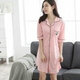 ราคา เดรสชุดนอน ปักมงกุฏ ผ้าคอนตอน Xinyuanyang ออนไลน์