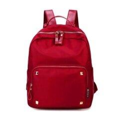 ขาย ผู้หญิงกระเป๋า Oxford กระเป๋าเป้หญิงกันน้ำ สีแดง ถูก