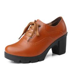 ขาย เวอร์ชั่นเกาหลีสีดำหญิงอาชีพรองเท้าแฟชั่นรองเท้า สีน้ำตาล เป็นต้นฉบับ