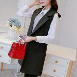 ขาย เสื้อกั๊กเกาหลีเสื้อกั๊กแขนกุดใหม่ผอม สีดำ ผู้ค้าส่ง