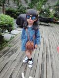 ซื้อ เกาหลีฤดูใบไม้ผลิและฤดูใบไม้ร่วงใหม่เด็กยีนส์กระโปรงสาวแขนยาวชุดเดรส มะเดื่อสี กางเกงยีนส์ชุด ถูก ใน ฮ่องกง