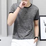ขาย เกาหลีผู้ชายคอกลมเยาวชนผ้าไหมน้ำแข็งเสื้อฤดูร้อนแขนสั้นเสื้อยืด สีเทาเข้มสีผ้าไหม Unbranded Generic เป็นต้นฉบับ