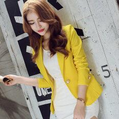 ซื้อ แฟชั่นหญิงอารมณ์สูทแจ็คเก็ต สีเหลือง ออนไลน์