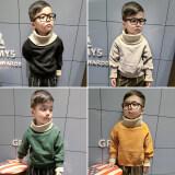 โปรโมชั่น เสื้อกันหนาวคอสูงสำหรับเด็กผู้ชาย สีเหลือง สีเหลือง Other