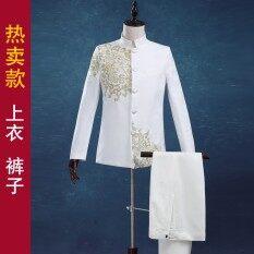 ซื้อ เจ้าบ่าวแต่งกายเสื้อคลุมเสื้อผ้า สีขาวชุด ออนไลน์