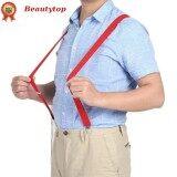 ราคา ชายหญิงยืดหยุ่นกางเกงกางเกงกางเกงยีนส์คลิป เข็มขัดสีแดง Unbranded Generic ใหม่