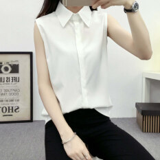 โปรโมชั่น หลวมเกาหลีใหม่นักเรียนผอมแขนสั้นเสื้อสีขาวเสื้อ สีขาว