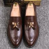 ราคา ขี้เกียจรองเท้าผู้ชายอังกฤษรองเท้าลำลองพู่ชี้แต่งงาน สีน้ำตาล Unbranded Generic ฮ่องกง