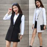 ขาย ซื้อ เสื้อกั๊กเกาหลีฤดูใบไม้ผลิและฤดูใบไม้ร่วงใหม่สลิม มิลค์กี้สีขาว ใน ฮ่องกง