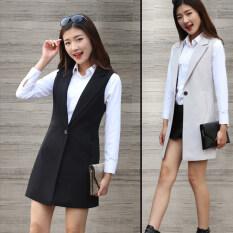 ขาย เสื้อกั๊กเกาหลีฤดูใบไม้ผลิและฤดูใบไม้ร่วงใหม่สลิม มิลค์กี้สีขาว ใน ฮ่องกง