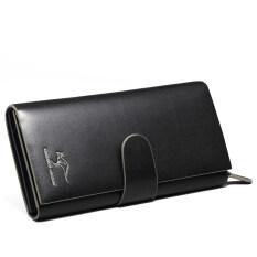 ขาย ทรูออสเตรเลียจิงโจ้กระเป๋าสตางค์หนังผู้ชายผู้ชายกระเป๋าสตางค์ส่วนยาว สีดำสองสี ราคาถูกที่สุด
