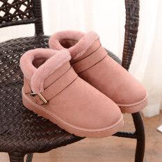 ขาย รองเท้าบูทลุยหิมะ แบบเรียบๆ หนังกวางบุขนด้านใน กันลื่น สำหรับคู่รัก สีชมพู หนังนิ่ม สีชมพู หนังนิ่ม ใน Thailand