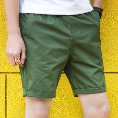 ซื้อ กางเกงสบายๆกางเกงขาสั้นชายในช่วงฤดูร้อนที่ห้า กองทัพสีเขียว ออนไลน์ ถูก