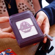 ทบทวน กระเป๋าสตางค์แฟชั่นผู้หญิงเอนกประสงค์ทำจากหนัง สีม่วง สีม่วง