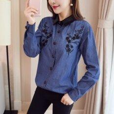 ซื้อ ปลอกคอเกาหลีคาวบอยหญิงบางเวตเตอร์ถักเสื้อ สีรูปภาพ ถูก ใน ฮ่องกง