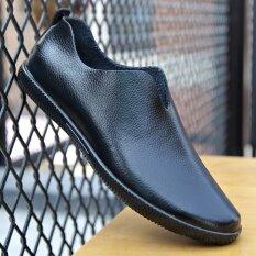 ซื้อ Yqlai รองเท้าหนังลำลองผู้ชายทรงโลว์คัท ชุดเท้าสีดำ ชุดเท้าสีดำ ออนไลน์