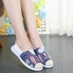 ส่วนลด เกาหลีหญิงชาวประมงรองเท้าป่ารองเท้าผ้าใบ นกฮูกสีฟ้า Unbranded Generic ใน ฮ่องกง