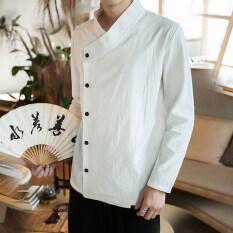 ราคา จีนลมจีนสีทึบชายคอปกเสื้อเสื้อ มิลค์กี้สีขาว เป็นต้นฉบับ