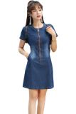 ขาย เกาหลียืดสลิมหลาใหญ่กระโปรงชุด ผ้ายีนส์สีฟ้า ออนไลน์ ฮ่องกง