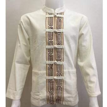 เสื้อผ้าเมือง คอจีน กระดุมจีน เดินเชือก(สี) แขนยาว