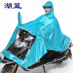 โปรโมชั่น สวรรค์กลางแจ้งรถจักรยานยนต์รถยนต์ไฟฟ้าเสื้อกันฝนผู้ใหญ่ผ้า ทะเลสาบสีฟ้า หนากับชุดกระจก ใน ฮ่องกง