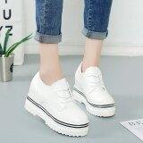 ขาย ซื้อ เก๋เกาหลีฤดูใบไม้ผลิใหม่รองเท้าแพลตฟอร์ม สีขาว ฮ่องกง