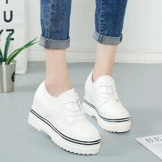 ขาย เก๋เกาหลีฤดูใบไม้ผลิใหม่รองเท้าแพลตฟอร์ม สีขาว ถูก ฮ่องกง