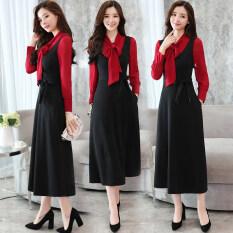 ขาย เดรสยาว ผ้าชีฟอง แขนยาว ทรงสลิม แฟชั่นผู้หญิง สีดำ ที่มีคุณภาพสูงหนาผ้า สีดำ ที่มีคุณภาพสูงหนาผ้า Other เป็นต้นฉบับ