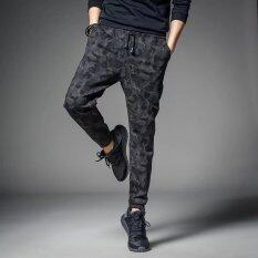 ซื้อ Wei กางเกงผู้ชายลำลองกางเกงลายพรางยาว พรางสายหนัง ใน ฮ่องกง