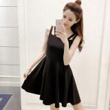 ขาย ซื้อ Hepburn ชุดเดรสแขนกุดเสื้อกั๊กสลิง Pompon สีดำ ใน ฮ่องกง