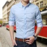 ขาย เสื้อเชิ้ตแขนสั้นผู้ชาย Dichuangzhe เสื้อลำลอง สไตล์เกาหลี แสงสีฟ้า แสงสีฟ้า ใหม่