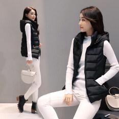 ขาย เสื้อกั๊กผ้าฝ้ายเกาหลีฤดูใบไม้ผลิและฤดูใบไม้ร่วงใหม่ สีดำ Other เป็นต้นฉบับ