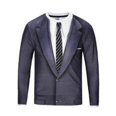 ขาย ซื้อ เสื้อยืดบุคลิกภาพเสื้อพรหมแขนยาว ชุดสูทสีดำ ใน ฮ่องกง