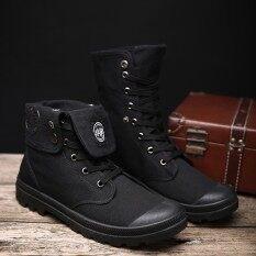 ขาย รองเท้าบูทมาร์ตินผู้ชาย Sageknight หุ้มส้นสูง สีดำ สีเทา สีกากี สีดำ สีดำ Unbranded Generic ใน ฮ่องกง