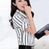 ซื้อ สีขาวเสื้อเกาหลีเสื้อชีฟองหญิงผอม สีขาว ใหม่ล่าสุด