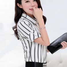 ขาย สีขาวเสื้อเกาหลีเสื้อชีฟองหญิงผอม สีขาว ออนไลน์ ใน ฮ่องกง