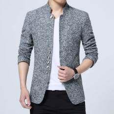 ขาย ชุดจงซาน ผู้ชาย Jickbofei เสื้อคลุม สีเทาอ่อน สีเทาอ่อน ถูก ใน ฮ่องกง