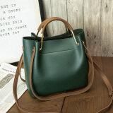 ซื้อ กระเป๋าสะพายไหล่ของผู้หญิง ทรงถังน้ำ Lapulanda สีเขียว สีเขียว Unbranded Generic